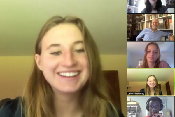 Students in a zoom call